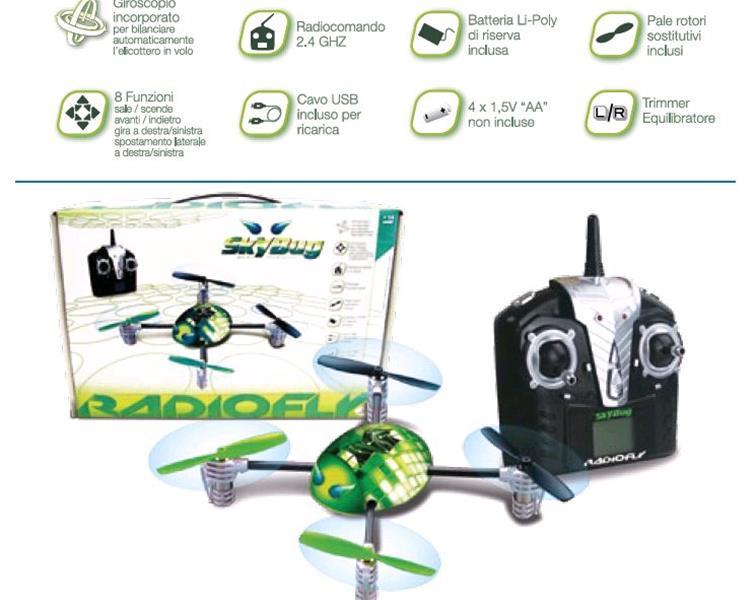 Elicottero Radiofly : Radiofly sky bug libellula drone elicottero rc cm con
