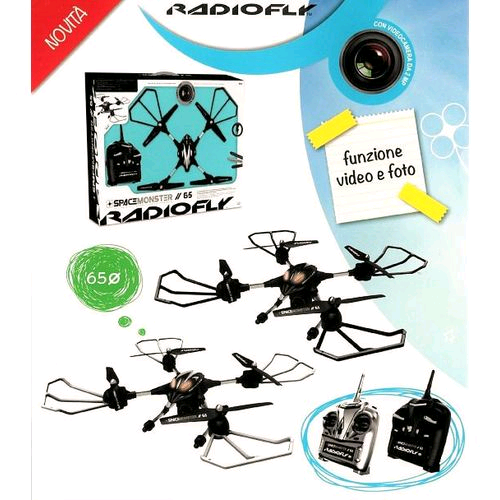 RADIOFLY DRONE SPACE MONSTER CON VIDEOCAMERA D65 RC