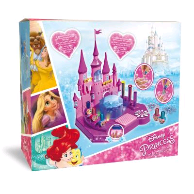 DISNEY CASTELLO INCANTATO 3 SMALTI, 3 GLITTER COLORATI, 3 SET DI UGHIE