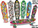 SKATEBOARD ABEC-5 RUOTE LED MULTI MAX 100 KG