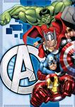 AVENGERS COPERTA IN PILE AV61001_2 PLAID 100X150