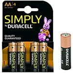 BATTERIA AA STILO SIMPLY DURACELL 4 PZ