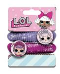 LOL SURPRISE IT'S FASHION 2 ELASTICI CAPELLI GLITTER CHARMS