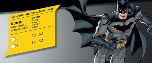Taglia Muscoli pettorali Imbottiti, Colore Grigio//Nero, 11685.XL Ciao-Batman Classic Costume Adulto Originale DC Comics