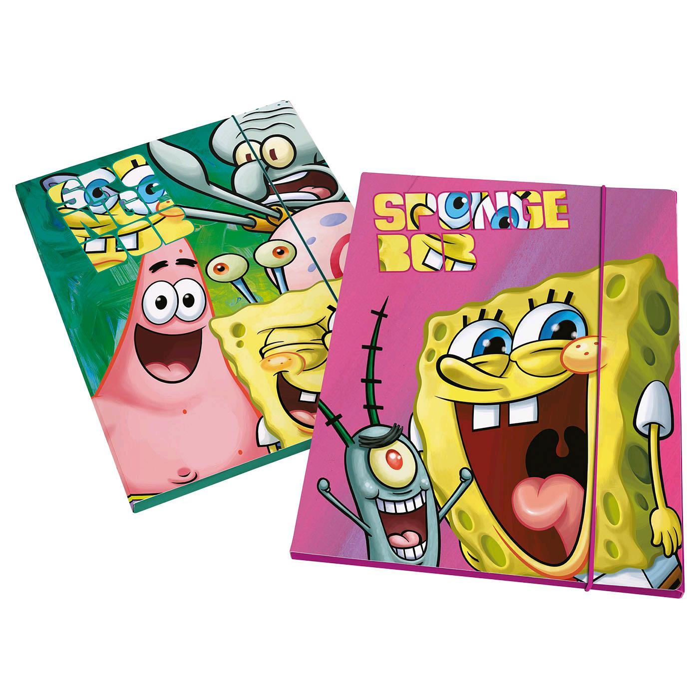 Prodotto 141042 cartellina porta disegni maxi spongebob for Disegni spongebob