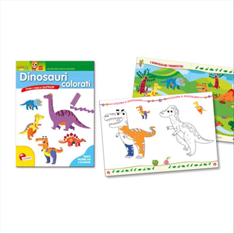 Prodotto 06947n Maxi Albo Da Colorare Dinosauri Colorati Lisciani